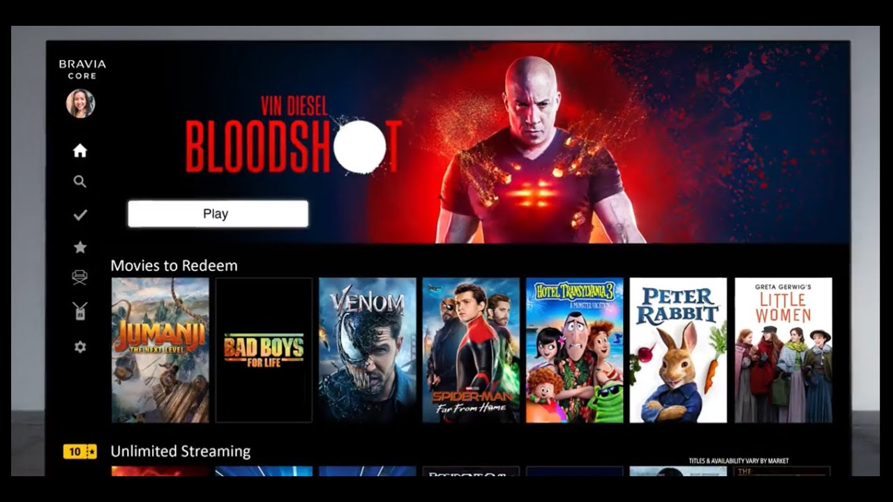 """Sony presents its own streaming service """"Bravia Core"""""""