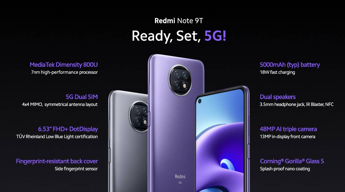 Xiaomi Redmi Note 9T – the 5G smartphone at a low price in the check