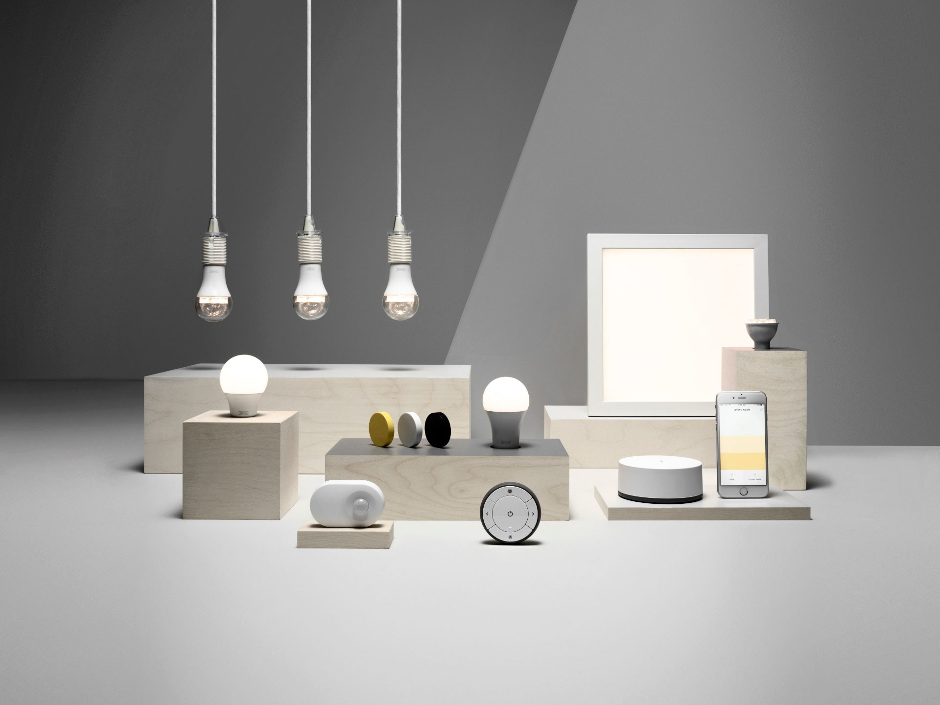 The smart home products from Ikea are good for that