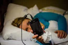 Don't charge your smartphone in bed at night!