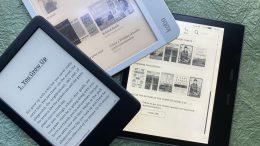 E-book readers Amazon Kindle and Tolino in comparison